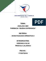 Analisis ABC Investigacion Operativa