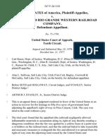 United States v. The Denver and Rio Grande Western Railroad Company, 547 F.2d 1101, 10th Cir. (1977)
