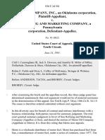 Metro Oil Company, Inc., an Oklahoma Corporation v. Sun Refining and Marketing Company, a Pennsylvania Corporation, 936 F.2d 501, 10th Cir. (1991)