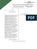 McKeighan v. Corrections Corporation, 10th Cir. (2011)