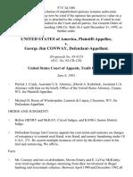 United States v. George Jim Conway, 57 F.3d 1081, 10th Cir. (1995)