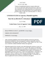 United States v. Mari Devon Beasley, 132 F.3d 43, 10th Cir. (1997)