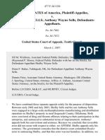 United States v. Shelby Wayne Sells Anthony Wayne Sells, 477 F.3d 1226, 10th Cir. (2007)