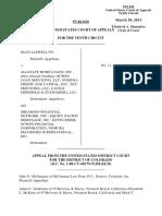 Llewellyn v. Allstate Home Loans, 10th Cir. (2013)