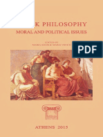 Greek Philosophy Moral and Political Issues 26th ICOP English Speakers