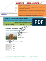 Aptoinn Nata Aesthetic Sensitivity Sample Paper - 1