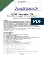 Astm c94 Traducida