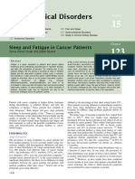 Sleep and Fatigue in Cancer Patient