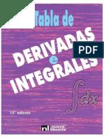 Tabla de Derivadas e Integrales.