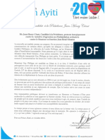 Note de protestation de Me Jean-Henry Céant contre la tentative d'agression ou d'intimidation orchestrée contre le Sénateur en fonction Jean Renel Sénatus