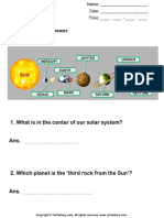 Facts About the Solar System