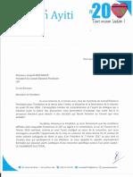 Lettre de Me Jean-Henry Céant à Léopold Berlanger sur le Processus Electoral