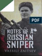 Notes of a Russian Sniper by Va - Zaitsev, Vassili