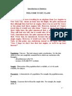 Introduction to Statistics Web