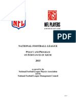 2015 NFL Policy and Program on Substances of Abuse