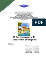 El Ser Humano y El Desarrollo EndOGENO MARLING