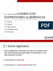 2. Operaciones Con Expresiones Algebraicas