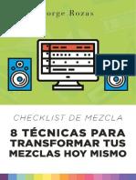 Checklist de Mezcla