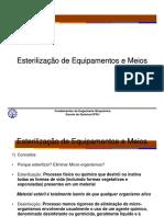 Esterilização de Equipamentos e Meio 2015