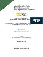 Estudio Sobre El Uso de Diferentes Ecuaciones de Diseño de Tuberías a Nivel Colombiano