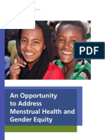 An Opportunity to Address Menstrual Health and Gender Equity