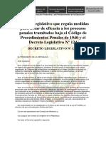 Decreto Legislativo Nº 1206 Modif Cprocp y Dl 124