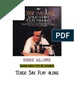 Robbie Williams Bb Play Along