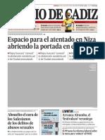 Tapa del Diario de Cadiz