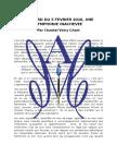 Accord du 5 Février 2016 - UNE SYMPHONIE INACHEVEE