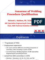 Sense & Nonsense of Welding Procedure Qualification