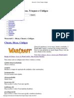 Warcraft 3 – Dicas, Cheats e Códigos