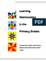 learning mathematics in the primary grades k-2