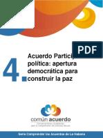 Acuerdo participación politica democratica para construir la Paz