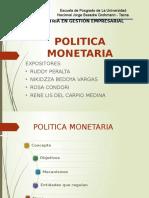 Politica Monetaria en El Peru