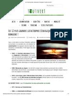 Les 12 Plus Grandes Catastrophes Écologiques d'Origine Humaine !
