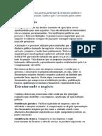 Os pequenos negócios podem participar de licitações públicas e compras governamentais.docx