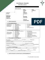 Historia Clinica Fisioterapia Formato