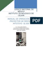 Manual de Practicas Para Un Proyector de Perfiles Mitutoyo Pj-300