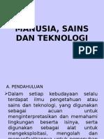 Manusia Sains Dan Teknologi