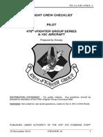 476th VFG a-10C Flight Crew Checklist Change 10