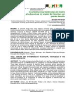 Conhecimentos Tradicionais Matriz Afro-brasileira Ensino Ciencias