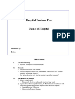 Hospital Business Plan Template