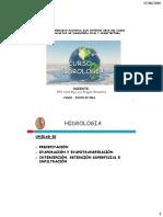 Hidrologia Precipitacion y Evapotranspiracion