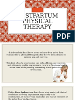 Postpartum Physical Therapy
