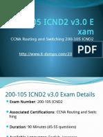 Cisco 200-105 ICND2 v3.0 Real Dumps It-Dumps