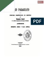 Chaco Paraguayo, memoria presentada al arbitro, por Benjamín Aceval, Ministro Plenipotenciario del Paraguay en Washington, Asunción año 1896