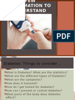 Few Information to Know Diabetes