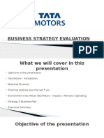 BUSINESS STRATEGY EVALUATION