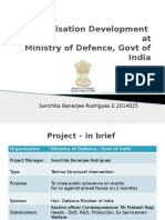 Organisation Development atMinistry of Defence, Govt of India