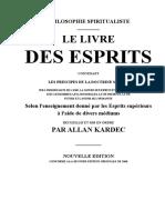 Spiritisme Fr Allan Kardec 01 Le livre des Esprits Words 1857.doc